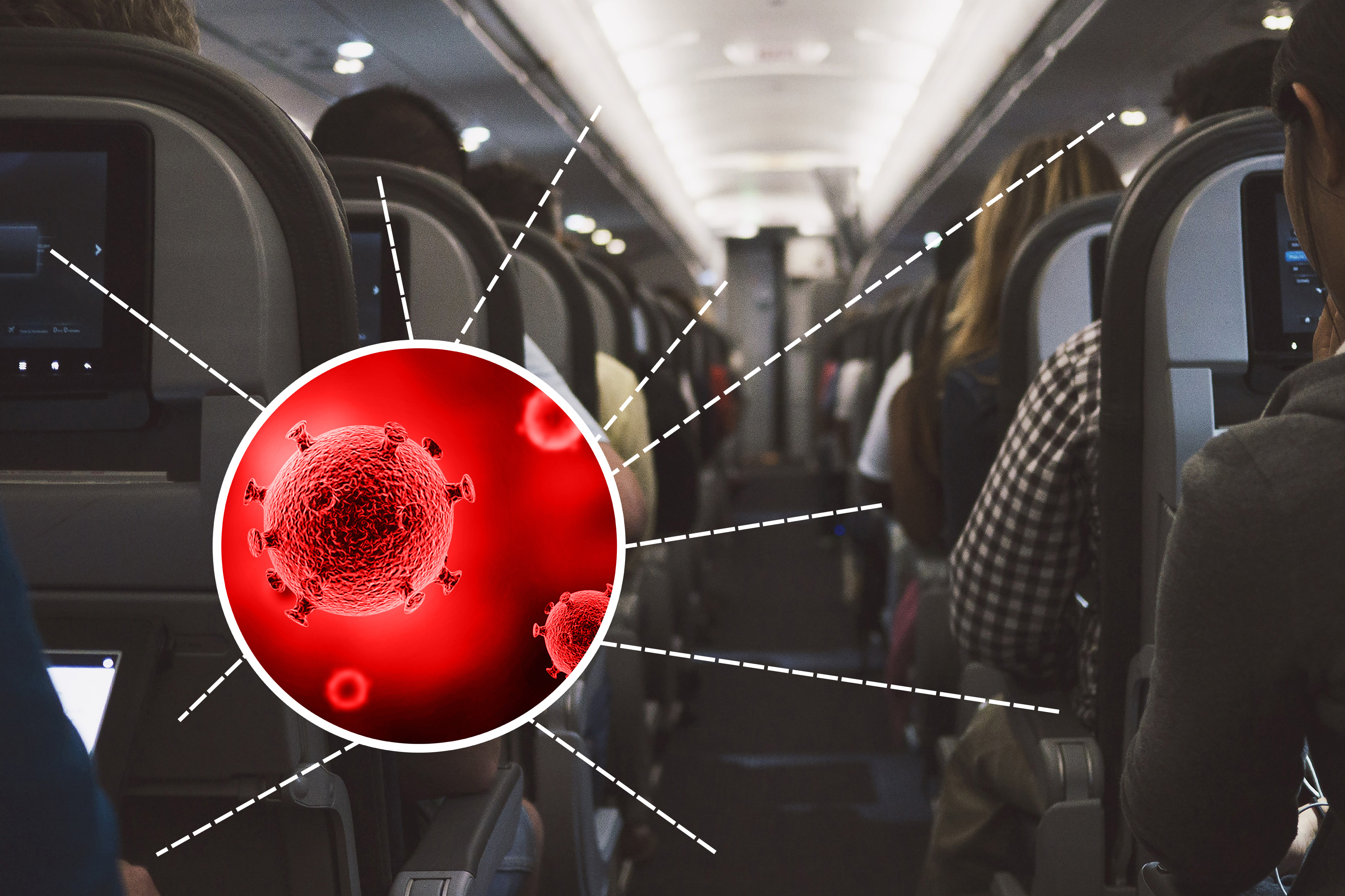 Krankheitserreger im Flugzeug